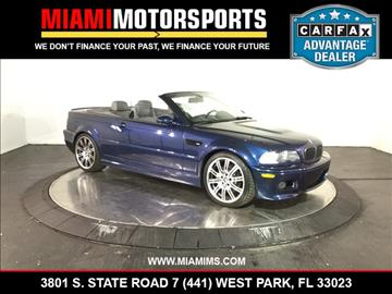 2004 BMW M3 for sale in West Park, FL
