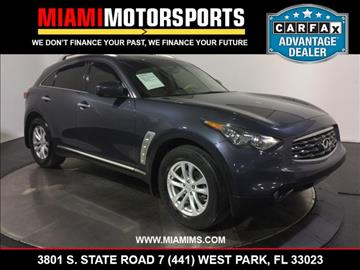 2010 Infiniti FX35 for sale in West Park, FL