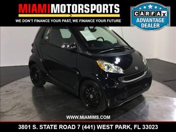 2011 Smart fortwo for sale in West Park, FL