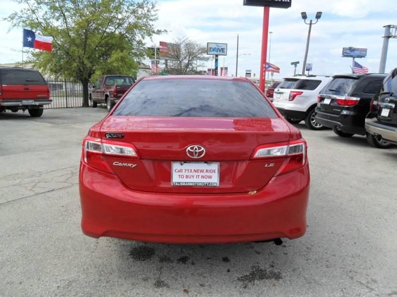 2013 Toyota Camry LE 4dr Sedan - Houston TX