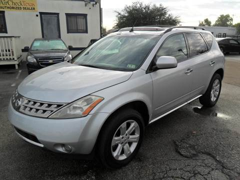 2006 Nissan Murano for sale at Talisman Motor City in Houston TX
