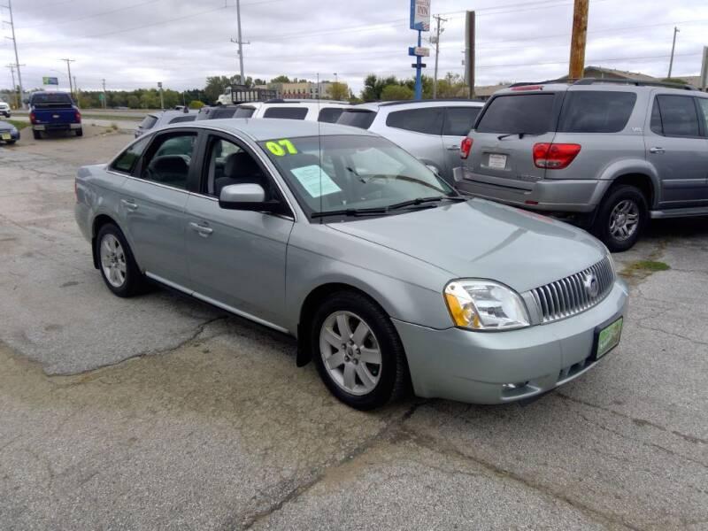 2007 Mercury Montego for sale at Regency Motors Inc in Davenport IA