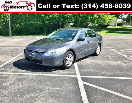 2003 Honda Accord for sale at E & S MOTORS in Imperial MO