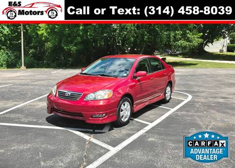 2007 Toyota Corolla for sale at E & S MOTORS in Imperial MO