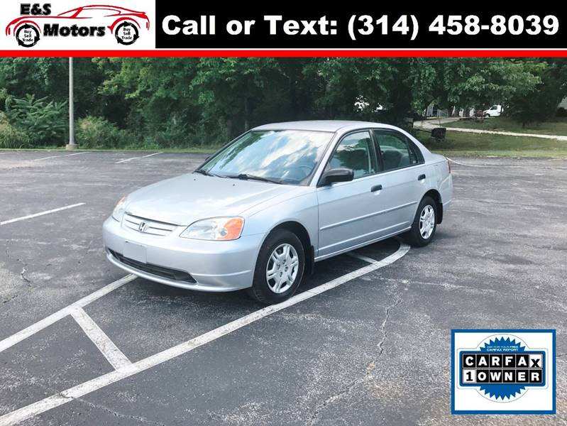 2001 Honda Civic for sale at E & S MOTORS in Imperial MO