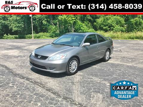 2005 Honda Civic for sale at E & S MOTORS in Imperial MO