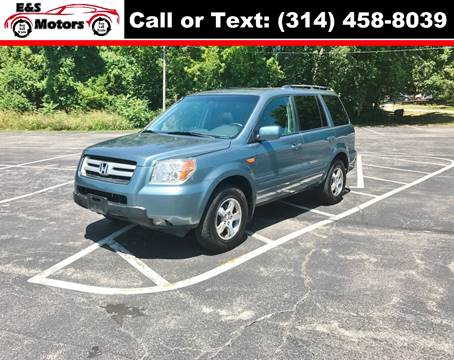2006 Honda Pilot for sale at E & S MOTORS in Imperial MO