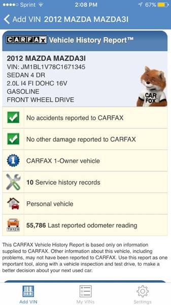 2012 Mazda MAZDA3 for sale at E & S MOTORS in Imperial MO