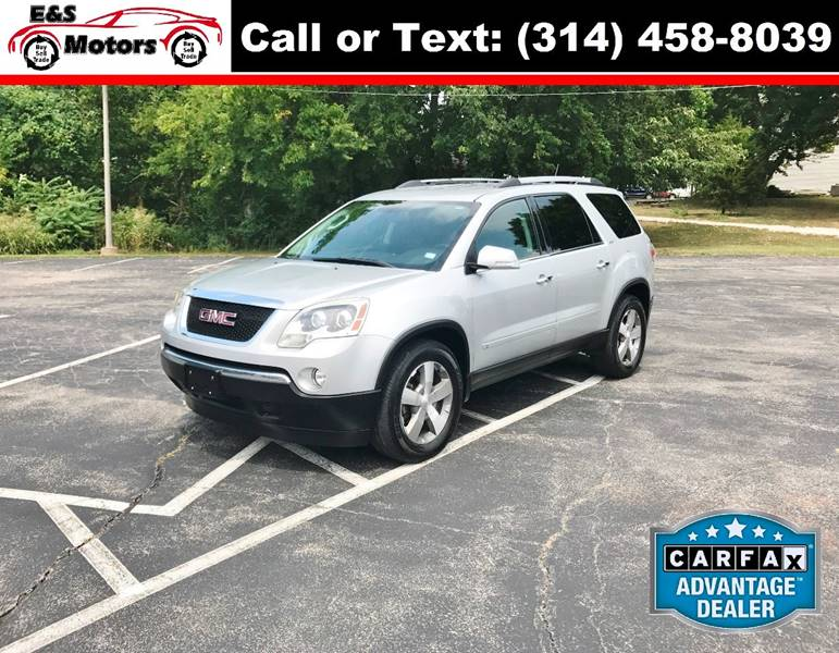 2010 GMC Acadia for sale at E & S MOTORS in Imperial MO