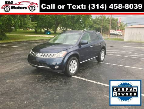 2007 Nissan Murano for sale at E & S MOTORS in Imperial MO