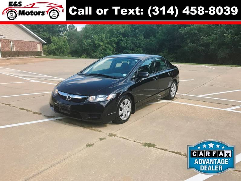 2009 Honda Civic for sale at E & S MOTORS in Imperial MO