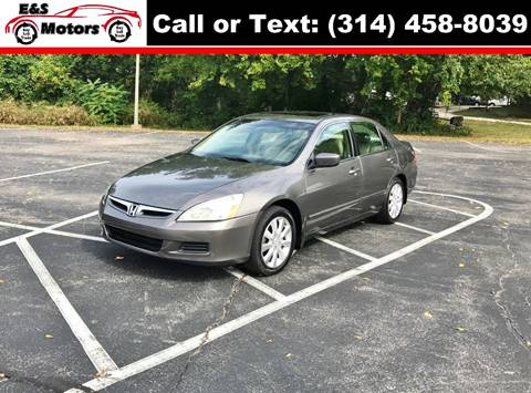 2006 Honda Accord for sale at E & S MOTORS in Imperial MO