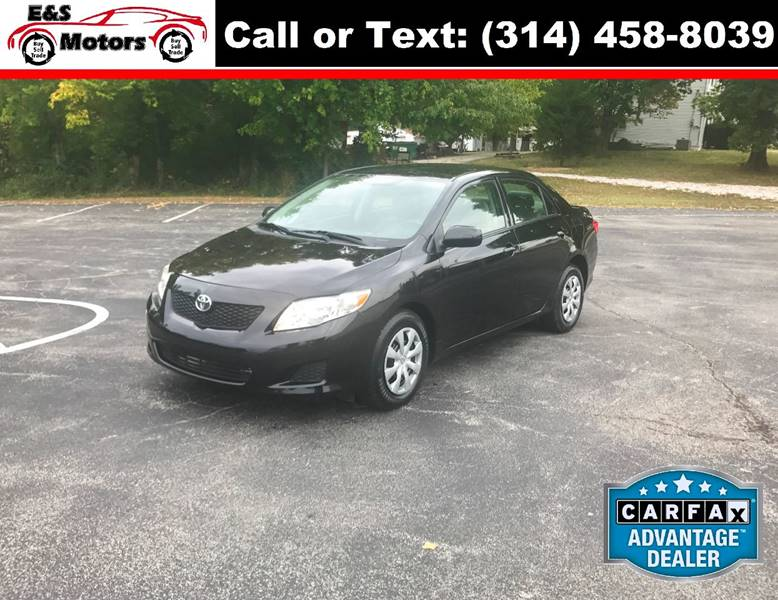 2009 Toyota Corolla for sale at E & S MOTORS in Imperial MO