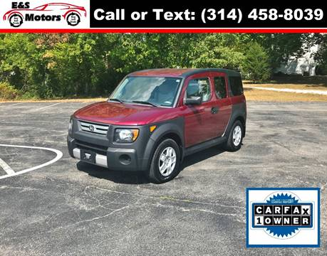 2008 Honda Element for sale at E & S MOTORS in Imperial MO