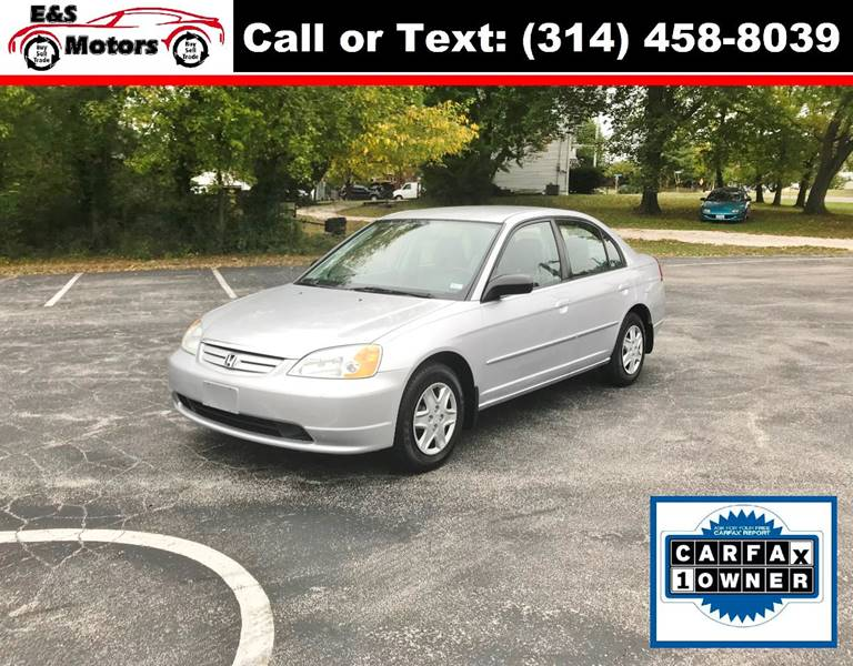 2003 Honda Civic for sale at E & S MOTORS in Imperial MO