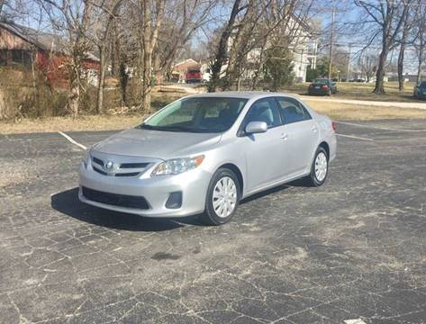 2012 Toyota Corolla for sale at E & S MOTORS in Imperial MO