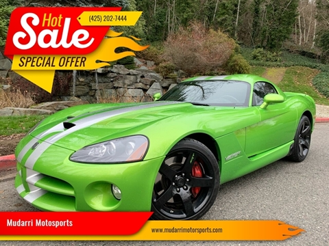 2008 Dodge Viper for sale at Mudarri Motorsports in Kirkland WA