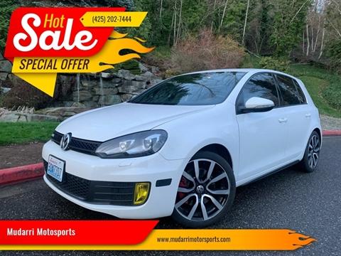 2013 Volkswagen GTI Base PZEV for sale at Mudarri Motosports in Kirkland WA