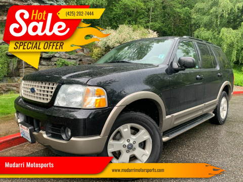 2004 Ford Explorer for sale at Mudarri Motorsports in Kirkland WA