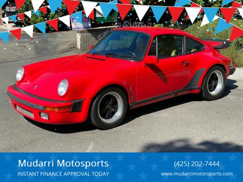 1987 Porsche 911 for sale at Mudarri Motorsports in Kirkland WA