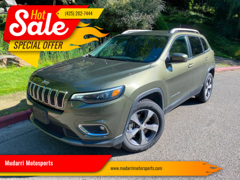 2019 Jeep Cherokee for sale at Mudarri Motorsports in Kirkland WA