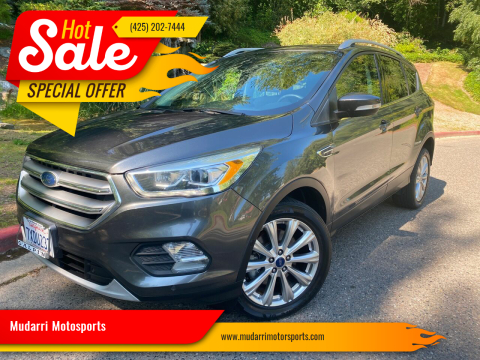 2017 Ford Escape for sale at Mudarri Motorsports in Kirkland WA