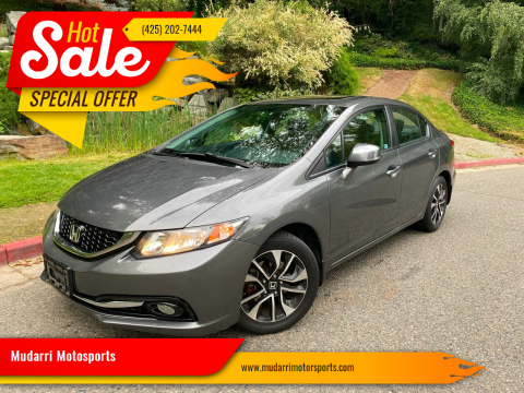 2013 Honda Civic for sale at Mudarri Motorsports in Kirkland WA