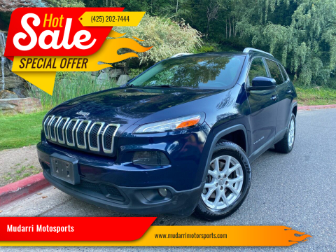2015 Jeep Cherokee for sale at Mudarri Motorsports in Kirkland WA