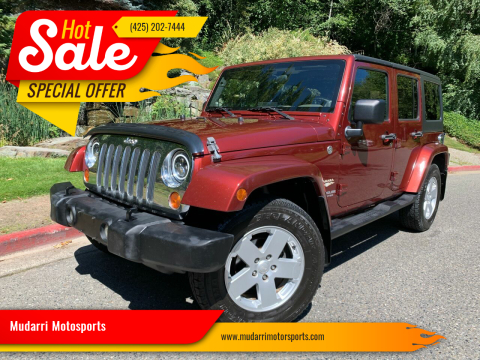 2007 Jeep Wrangler Unlimited for sale at Mudarri Motorsports in Kirkland WA