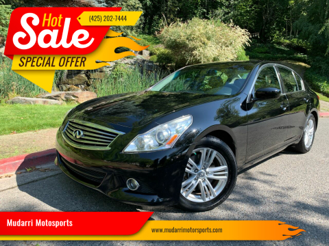 2013 Infiniti G37 Sedan for sale at Mudarri Motorsports in Kirkland WA