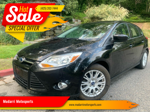 2012 Ford Focus for sale at Mudarri Motorsports in Kirkland WA