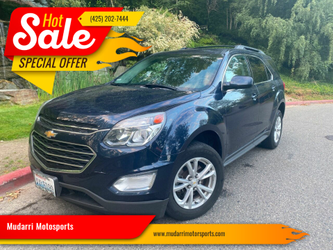 2016 Chevrolet Equinox for sale at Mudarri Motorsports in Kirkland WA