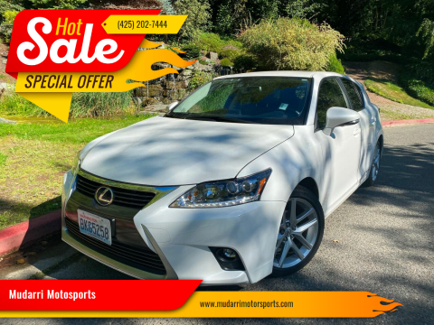 2016 Lexus CT 200h for sale at Mudarri Motorsports in Kirkland WA