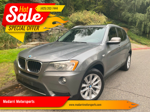 2013 BMW X3 for sale at Mudarri Motorsports in Kirkland WA
