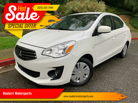 2017 Mitsubishi Mirage G4 for sale at Mudarri Motorsports in Kirkland WA