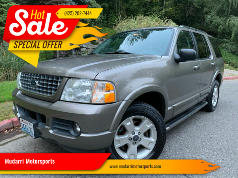 2003 Ford Explorer for sale at Mudarri Motorsports in Kirkland WA