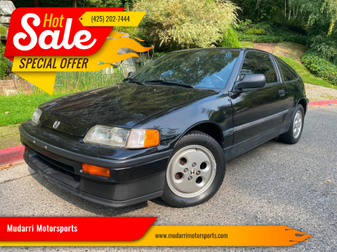 1989 Honda Civic CRX for sale at Mudarri Motorsports in Kirkland WA