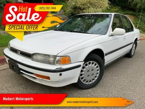 1993 Honda Accord for sale at Mudarri Motorsports in Kirkland WA
