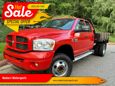 2007 Dodge Ram Pickup 3500 for sale at Mudarri Motorsports in Kirkland WA