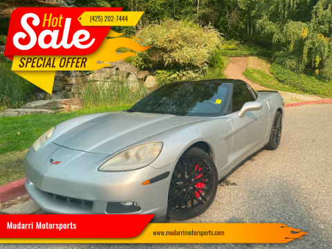 2009 Chevrolet Corvette for sale at Mudarri Motorsports in Kirkland WA