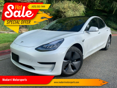 2020 Tesla Model 3 for sale at Mudarri Motorsports in Kirkland WA