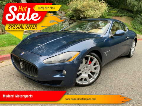 2009 Maserati GranTurismo for sale at Mudarri Motorsports in Kirkland WA