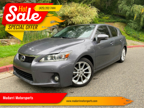 2013 Lexus CT 200h for sale at Mudarri Motorsports in Kirkland WA