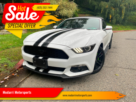 2015 Ford Mustang for sale at Mudarri Motorsports in Kirkland WA
