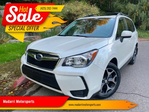 2016 Subaru Forester for sale at Mudarri Motorsports in Kirkland WA