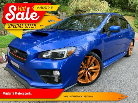 2017 Subaru WRX for sale at Mudarri Motorsports in Kirkland WA