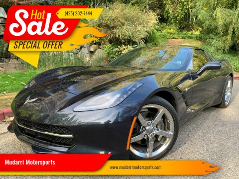2014 Chevrolet Corvette for sale at Mudarri Motorsports in Kirkland WA