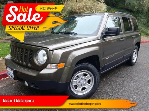 2016 Jeep Patriot for sale at Mudarri Motorsports in Kirkland WA