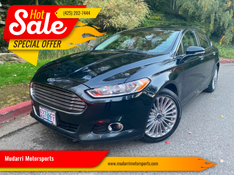2014 Ford Fusion for sale at Mudarri Motorsports in Kirkland WA