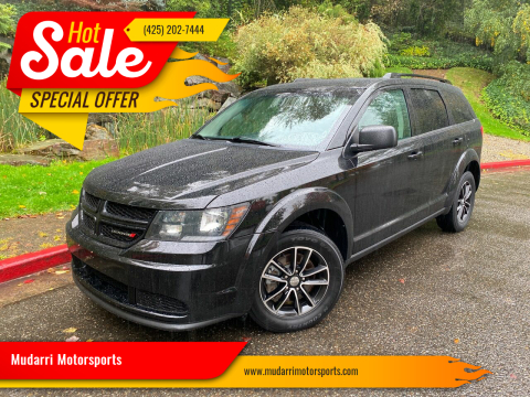 2017 Dodge Journey for sale at Mudarri Motorsports in Kirkland WA